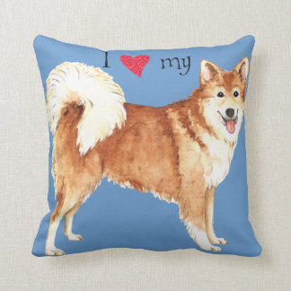 I Love my Icelandic Sheepdog Throw Pillow