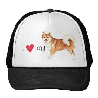 I Love my Icelandic Sheepdog Trucker Hat