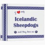 I Love My Icelandic Sheepdogs (Multiple Dogs) Vinyl Binder
