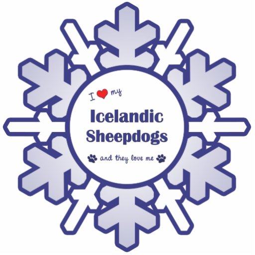 I Love My Icelandic Sheepdogs (Multiple Dogs) Photo Cutout