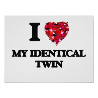 I Love My Identical Twin Poster