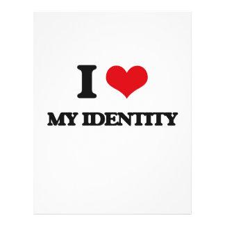 I Love My Identity Personalized Flyer
