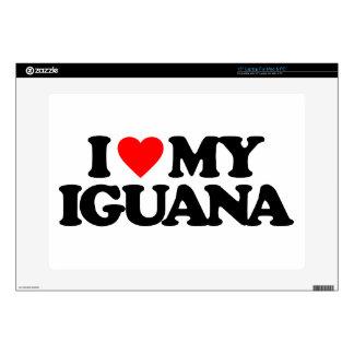 "I LOVE MY IGUANA 15"" LAPTOP SKINS"