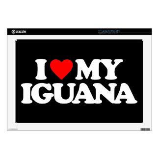 "I LOVE MY IGUANA 17"" LAPTOP DECALS"