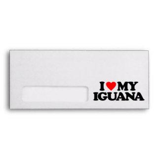 I LOVE MY IGUANA ENVELOPE