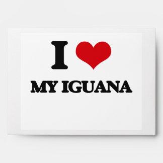 I Love My Iguana Envelopes