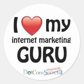 I Love My IM Guru Classic Round Sticker