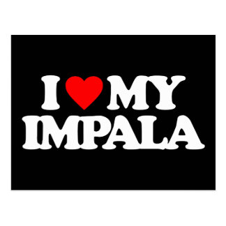 I LOVE MY IMPALA POSTCARD