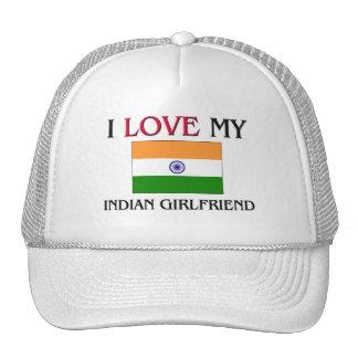 I Love My Indian Girlfriend Mesh Hats