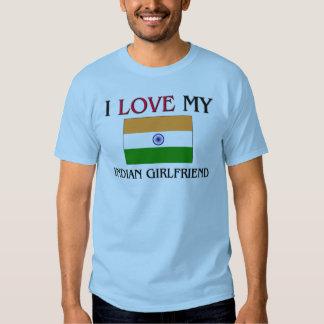 I Love My Indian Girlfriend Tee Shirt
