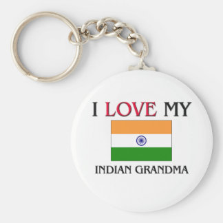 I Love My Indian Grandma Basic Round Button Keychain