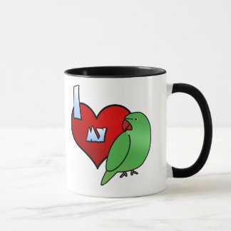 I Love my Indian Ringneck Parakeet Hen Mug