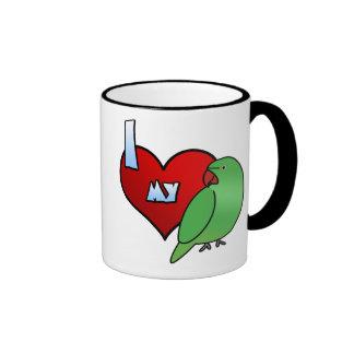 I Love my Indian Ringneck Parakeet Hen Ringer Coffee Mug