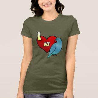 I Love my Indian Ringneck Parakeet Ladies T-Shirt