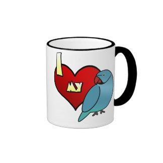 I Love my Indian Ringneck Parakeet Ringer Coffee Mug
