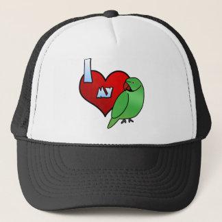 I Love my Indian Ringneck Parakeet Trucker Hat