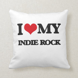 I Love My INDIE ROCK Throw Pillows