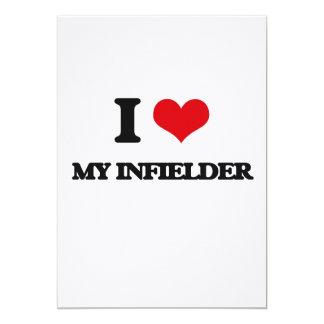 I Love My Infielder 5x7 Paper Invitation Card