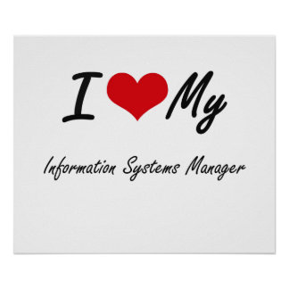 I love my Information Systems Manager Poster