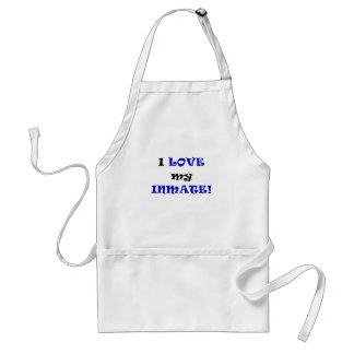 I Love my Inmate Adult Apron