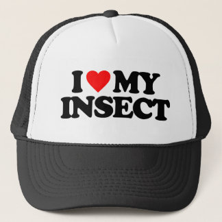 I LOVE MY INSECT TRUCKER HAT