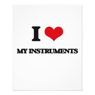 I Love My Instruments Flyer Design