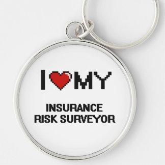 I love my Insurance Risk Surveyor Silver-Colored Round Keychain