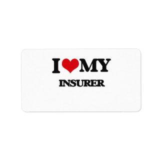 I love my Insurer Custom Address Label