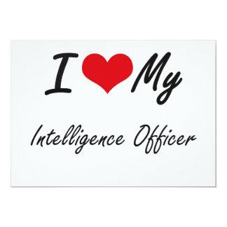 I love my Intelligence Officer 5x7 Paper Invitation Card