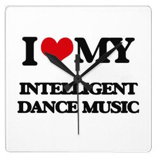 I Love My INTELLIGENT DANCE MUSIC Wall Clocks