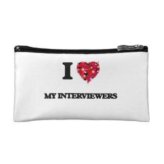 I Love My Interviewers Cosmetic Bags