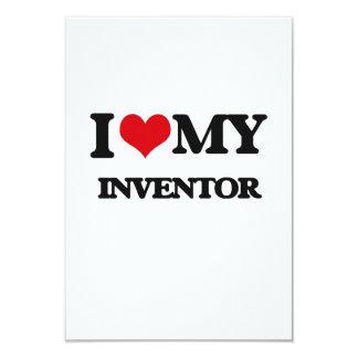 "I love my Inventor 3.5"" X 5"" Invitation Card"