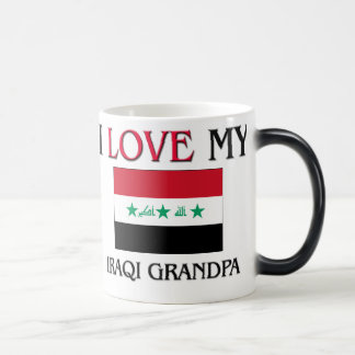 I Love My Iraqi Grandpa Magic Mug