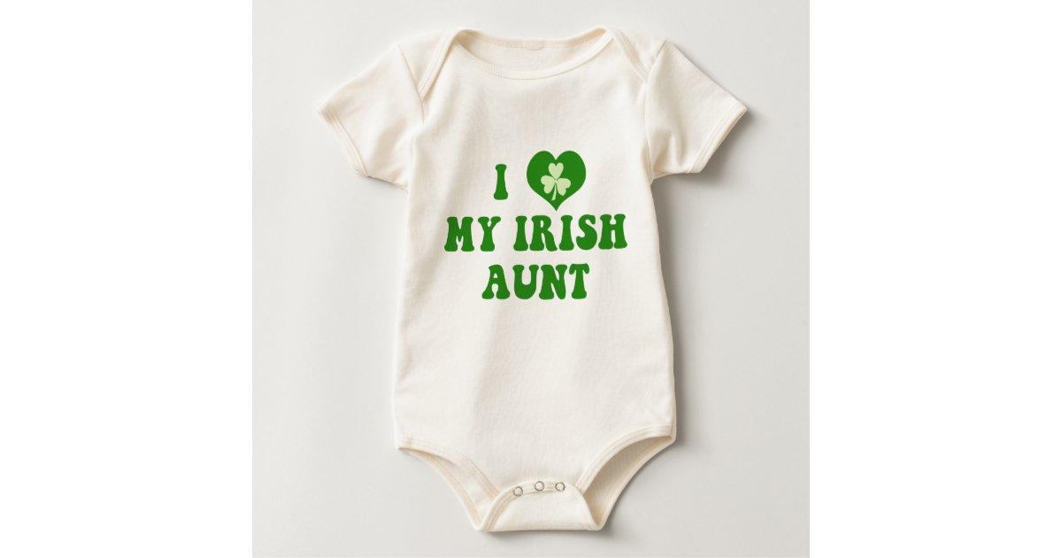 Organic Baby Gifts Ireland : I love my irish aunt organic baby shirt zazzle