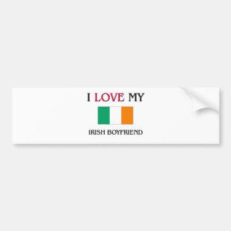 I Love My Irish Boyfriend Bumper Stickers