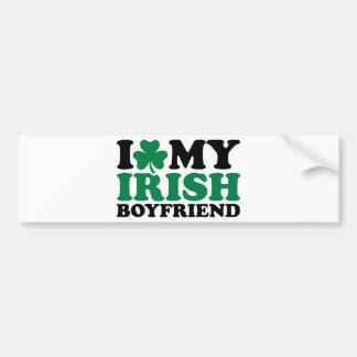 I love my irish boyfriend shamrock bumper stickers