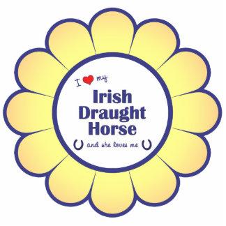 I Love My Irish Draught Horse (Female Horse) Statuette