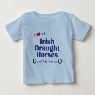 I Love My Irish Draught Horses (Multiple Horses) Baby T-Shirt