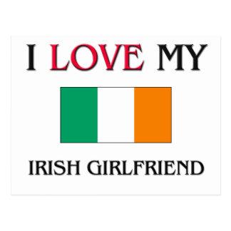I Love My Irish Girlfriend Postcard