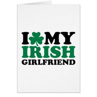 I love my irish girlfriend shamrock greeting card