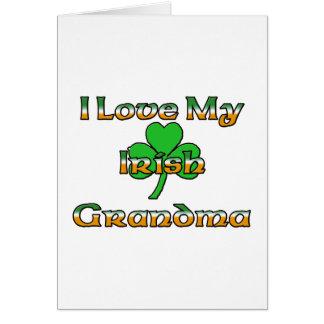 I Love My Irish Grandma Card