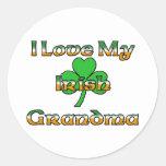 I Love My Irish Grandma Classic Round Sticker