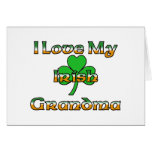 I Love My Irish Grandma Greeting Card
