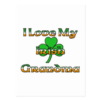 I Love My Irish Grandma Postcard