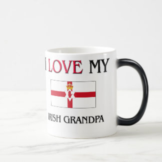 I Love My Irish Grandpa 11 Oz Magic Heat Color-Changing Coffee Mug