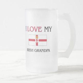 I Love My Irish Grandpa 16 Oz Frosted Glass Beer Mug