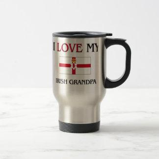 I Love My Irish Grandpa 15 Oz Stainless Steel Travel Mug