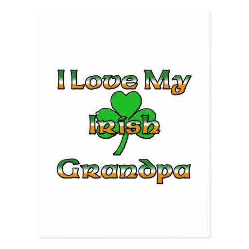 I Love My Irish Grandpa Postcard
