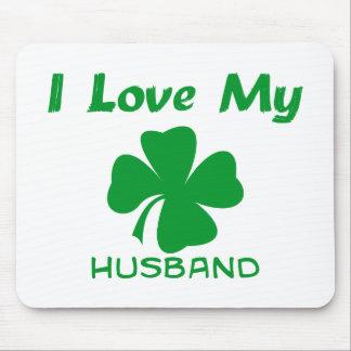 I Love My Irish Husband Mousepads