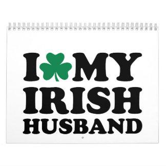 I love my irish husband shamrock calendar